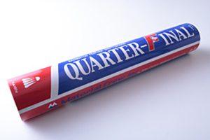 クォーターファイナル(練習球) Quarter Final 低価格に抑えた初・中級者向けシャトルです。 キャンペーン価格 1本 1,690円(税込) 通常希望小売価格 1本 2,484円(税込)
